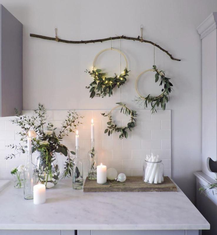 decorar con plantas de navidad