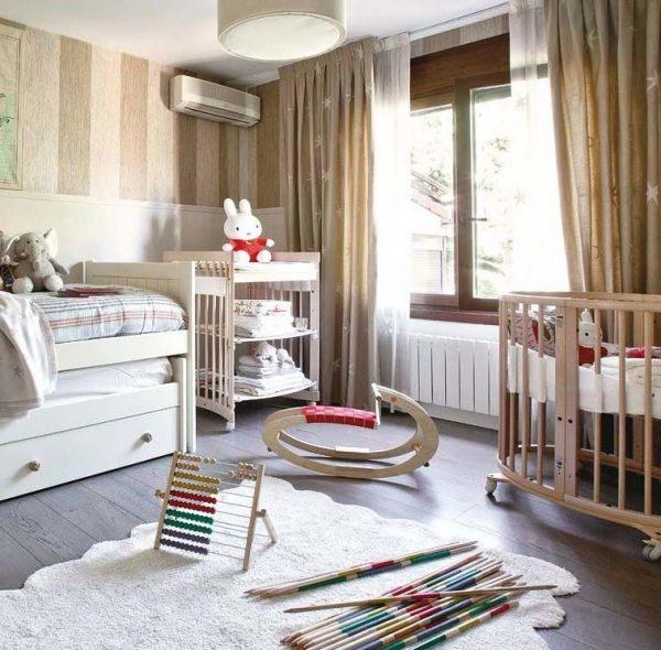 decorar dormitorio infantil cuna y cama