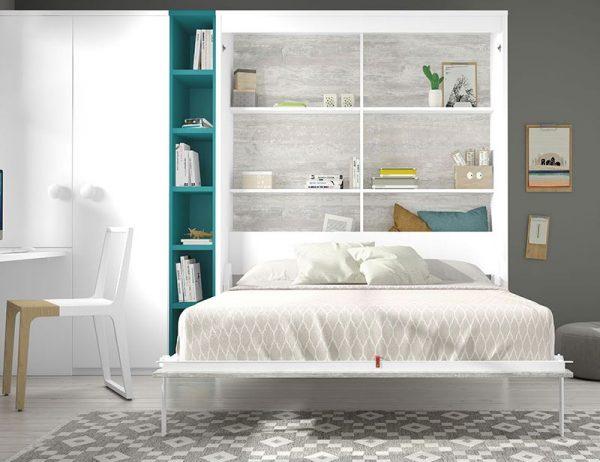 decorar habitacion con cama abatible