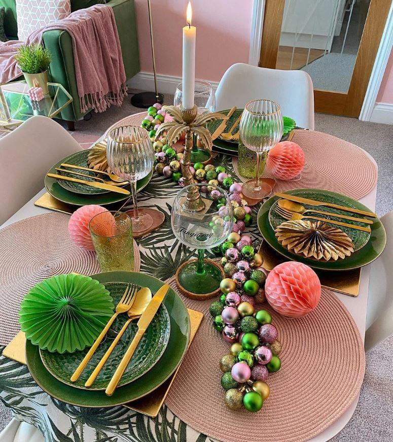 decorar mesa de navidad con poco dinero