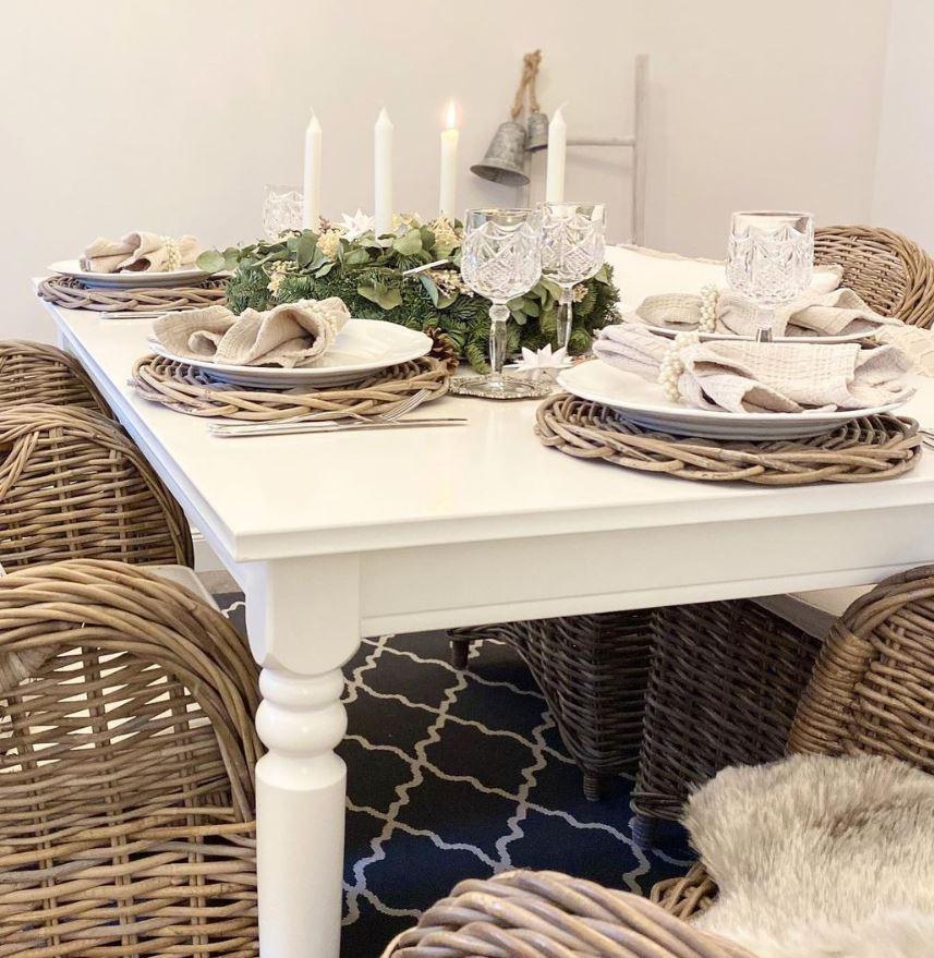 decorar mesa navidad barata