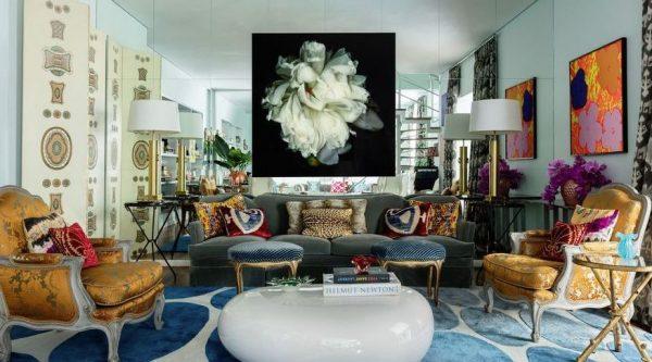 decorar salones alargados espejos enormes