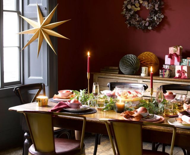 decorar una mesa de navidad economicamente