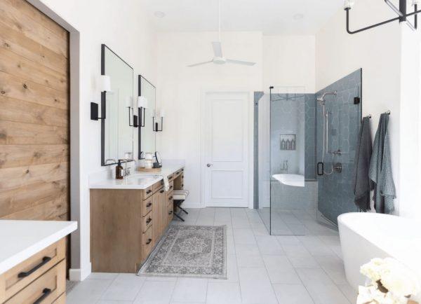 diseños baños con ducha moderna