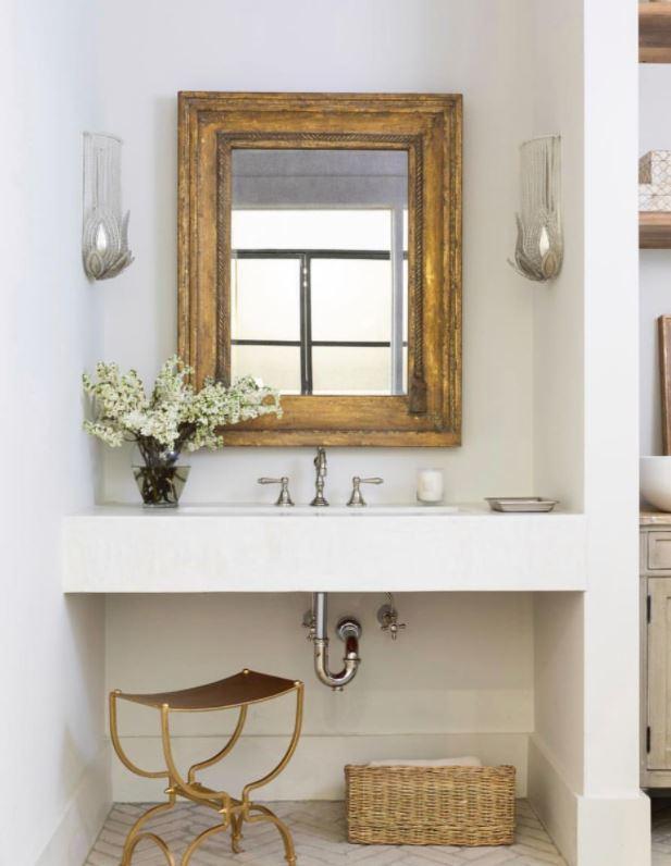 espejo rustico para baño