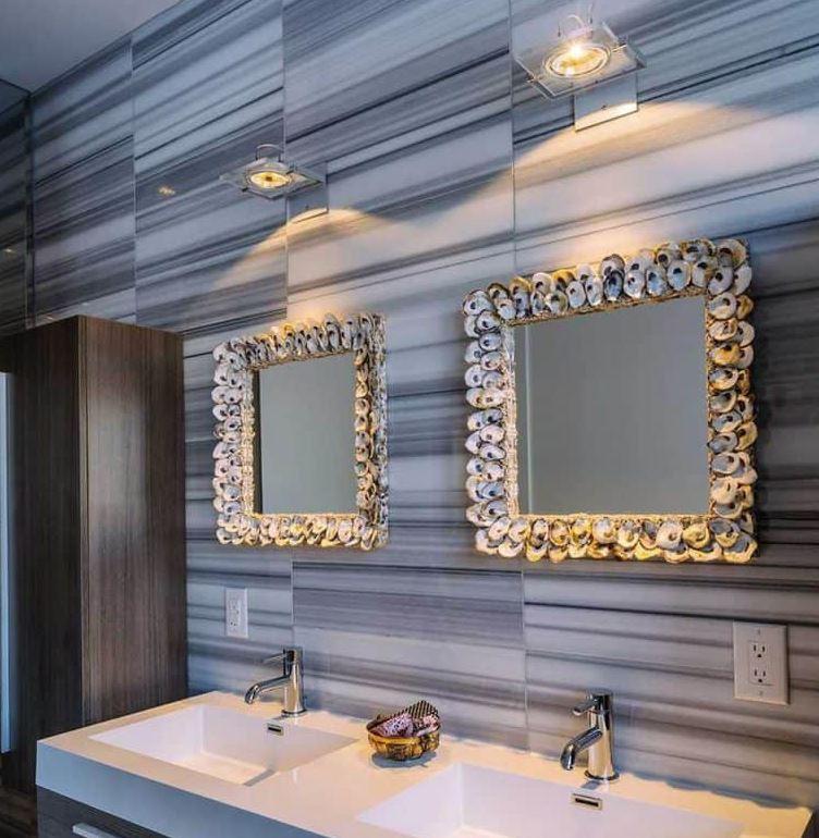 espejos decorados con conchas marinas