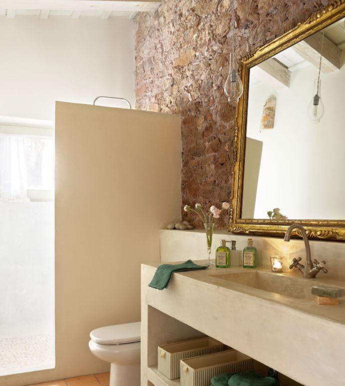 espejos dorados para baños