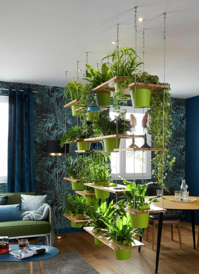 estante colgante para plantas