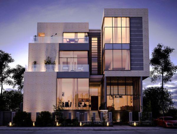 fachada casa moderna preciosa