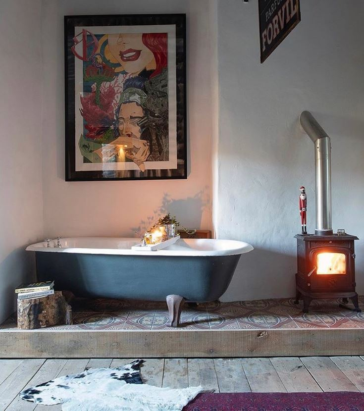 fotos baños rusticos