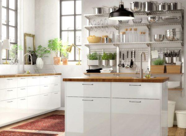 fotos de cocinas blancas ikea