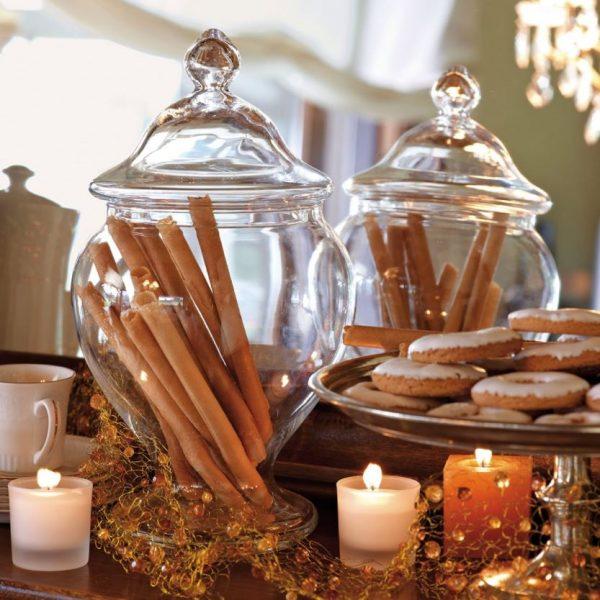 frascos navideños con dulces