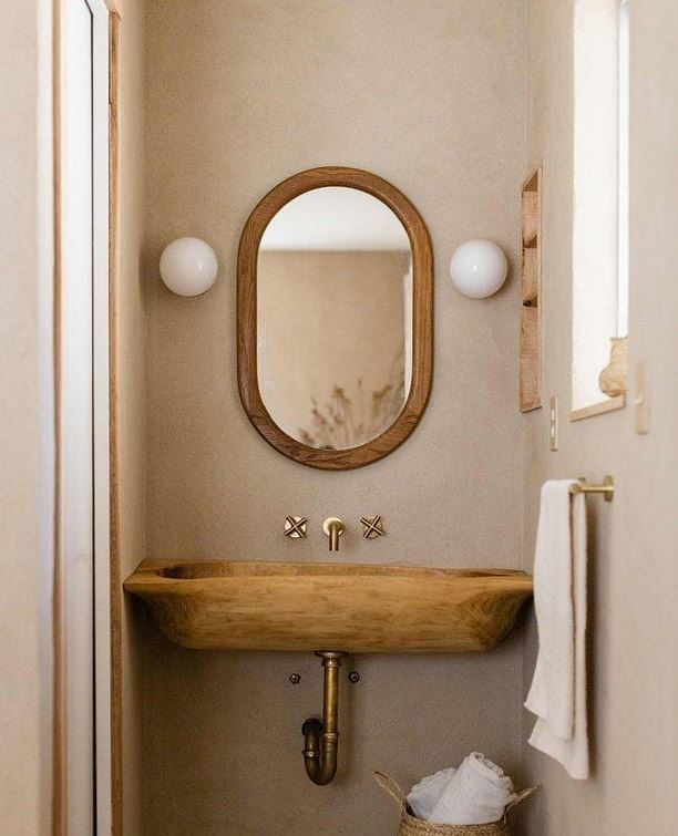 griferia para baño rustico