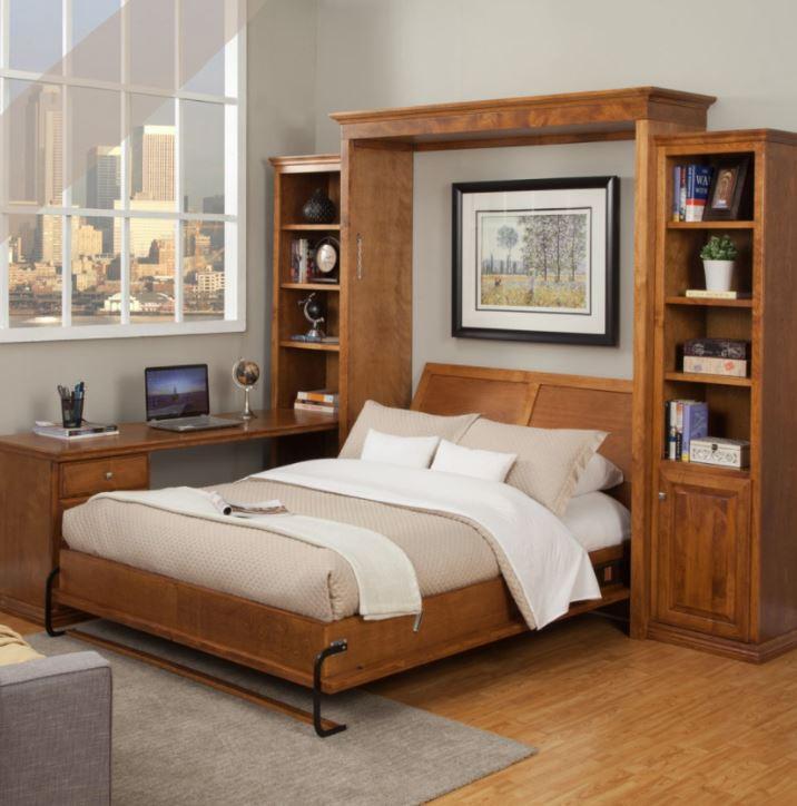 habitacion con cama abatible