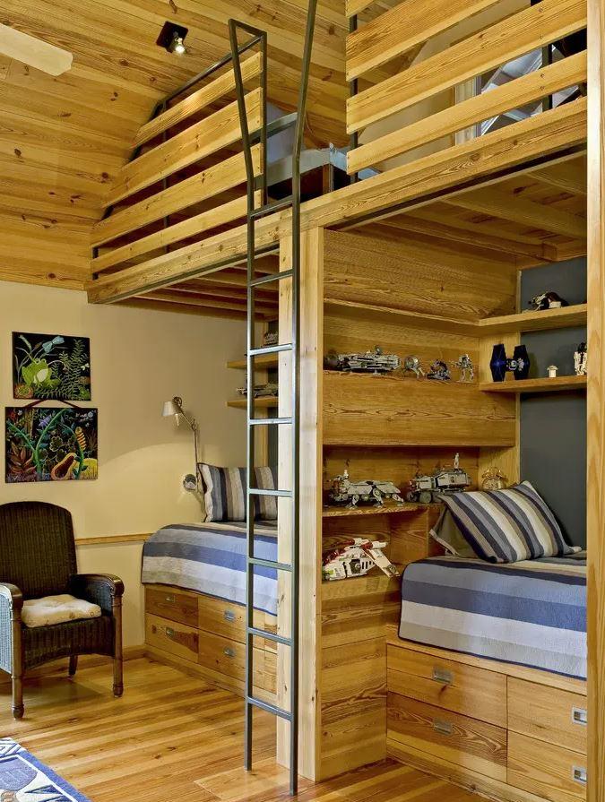 habitacion infantil literas madera
