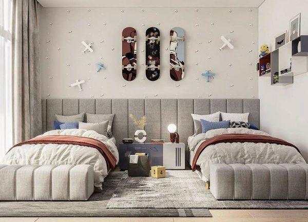 habitacion juvenil moderna mellizos