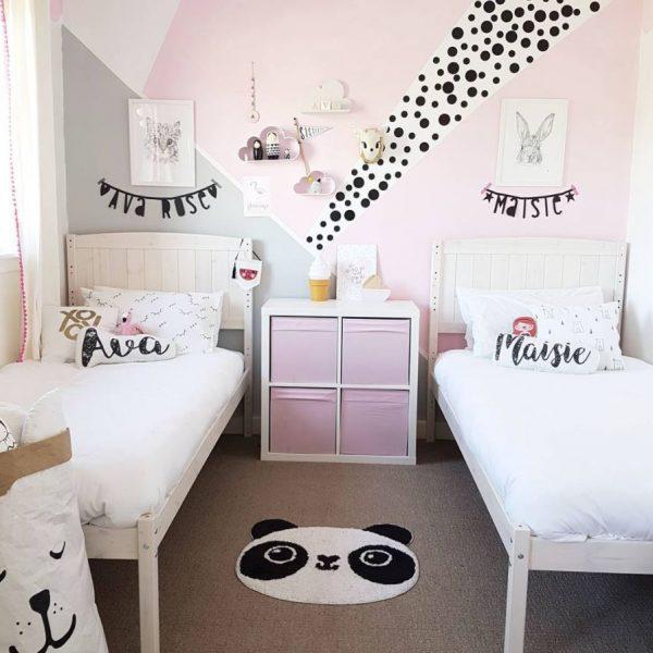 habitaciones infantiles dobles poco espacio