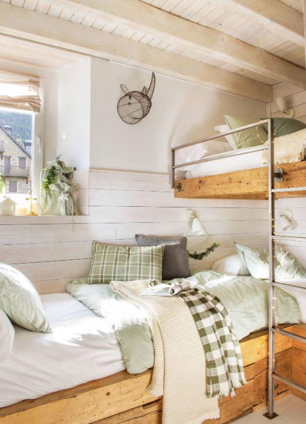 habitaciones infantiles dos camas