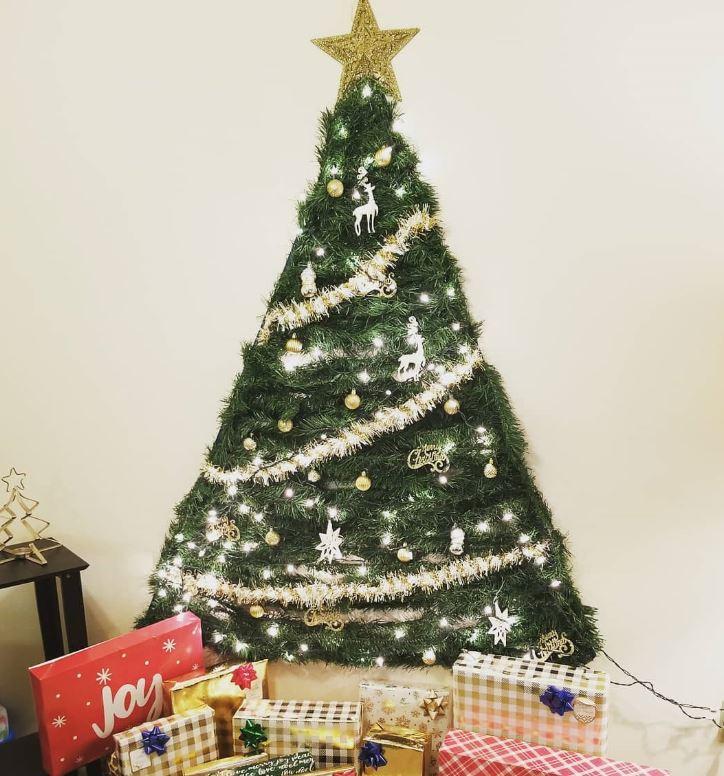 hacer arbol de navidad en la pared
