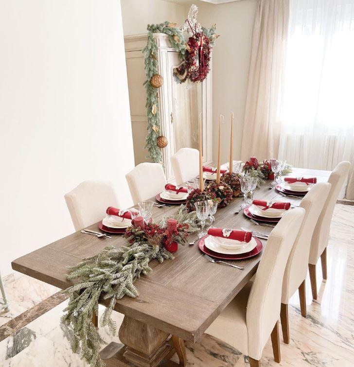 ideas de cómo decorar la mesa de navidad