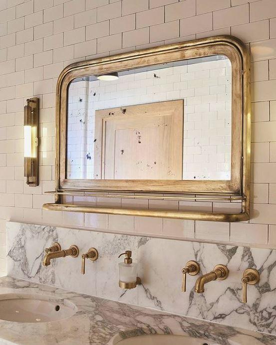 ideas de espejos para baños
