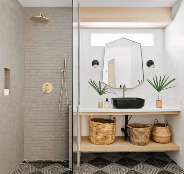 ideas para baños pequeños con ducha