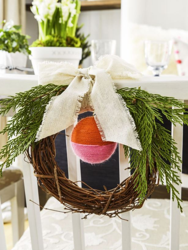 ideas para decorar sillas de navidad