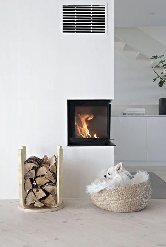 ideas para decorar un salón con chimenea
