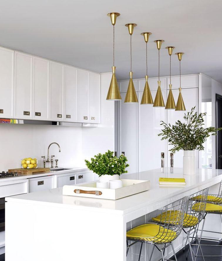 imagenes de cocinas blancas amarilla