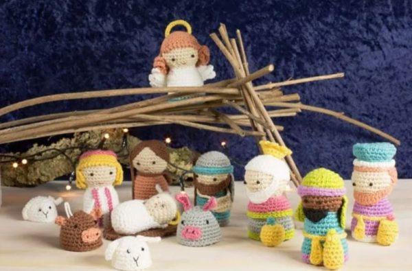 imagenes de portal de belen crochet