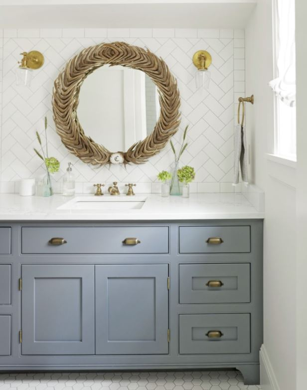 interiores rusticos aseo lavabo