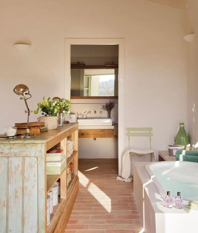 interiores rusticos modernos lavabo