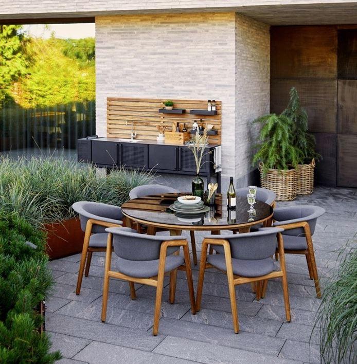 jardin moderno con plantas