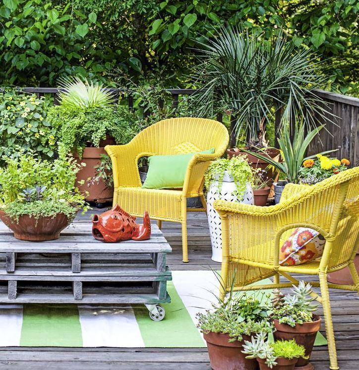 jardines con encanto rústico