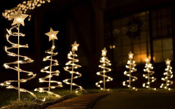 luces de navidad para exterior a pilas