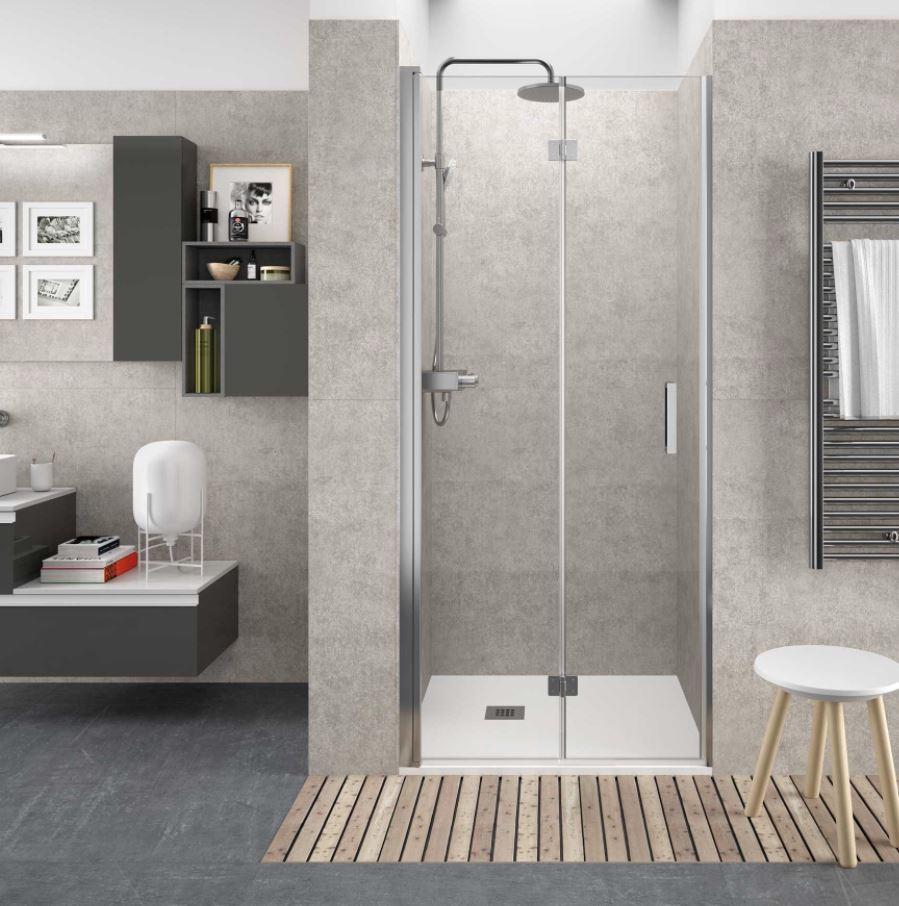 mamparas de ducha con puertas plegables
