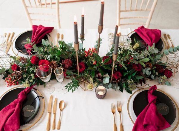 mesa arreglada para navidad