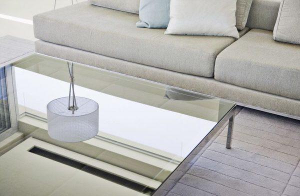 mesa de centro transparente acrilico