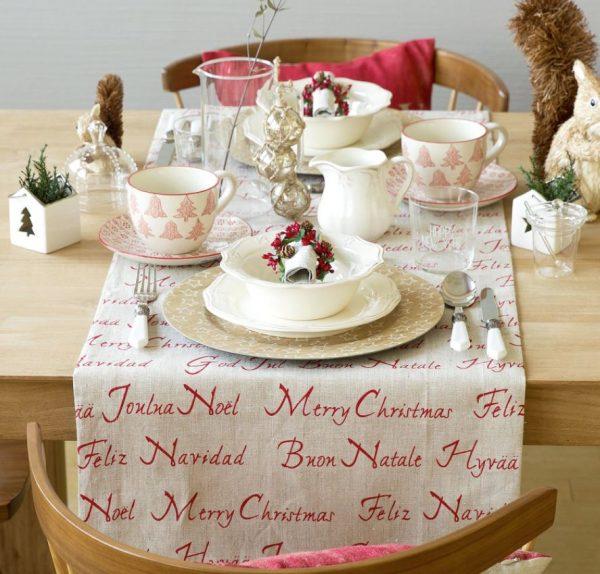 mesa decorada de navidad