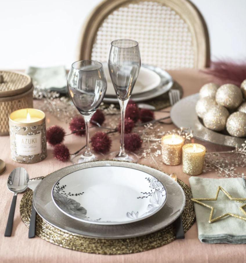 mesa navideña decoracion vintage