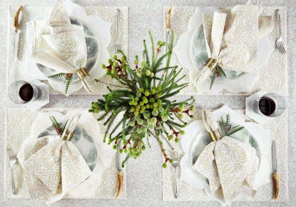 mesas decoradas de navidad elegantes