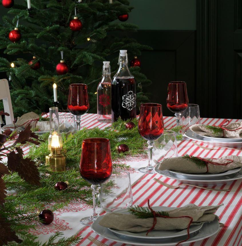 mesas decoradas de navidad ikea