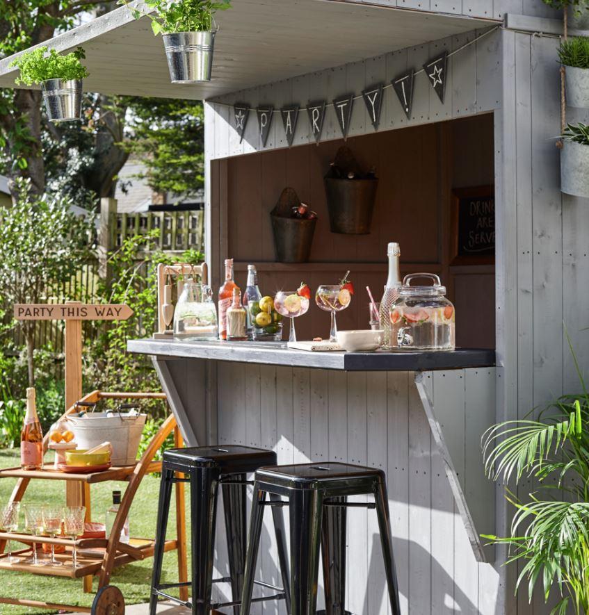 mueble barra para jardin