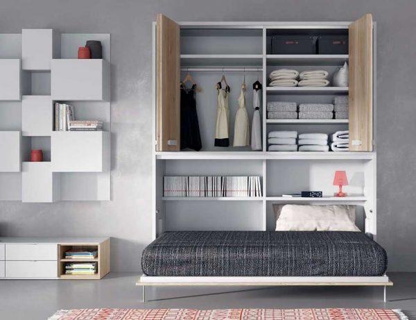 mueble de salon con cama abatible