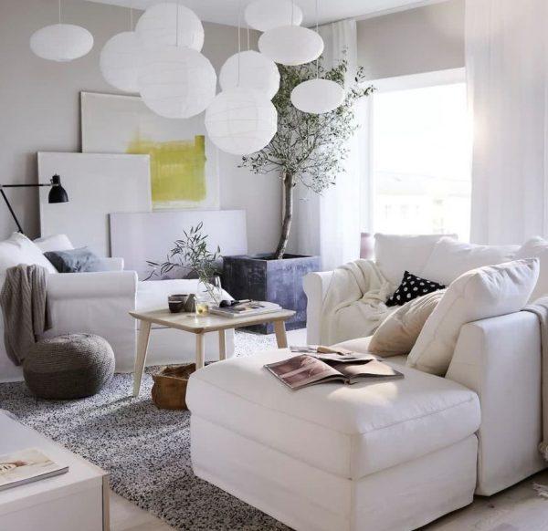 muebles claros para salon