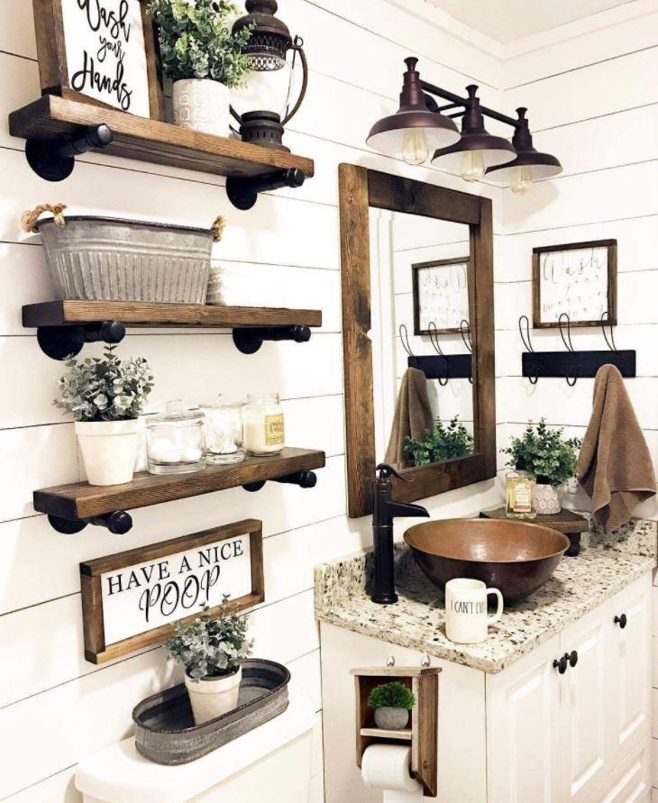 muebles de baño rusticos de obra