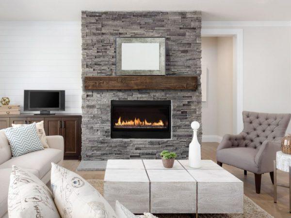 muebles de salon con chimenea electrica