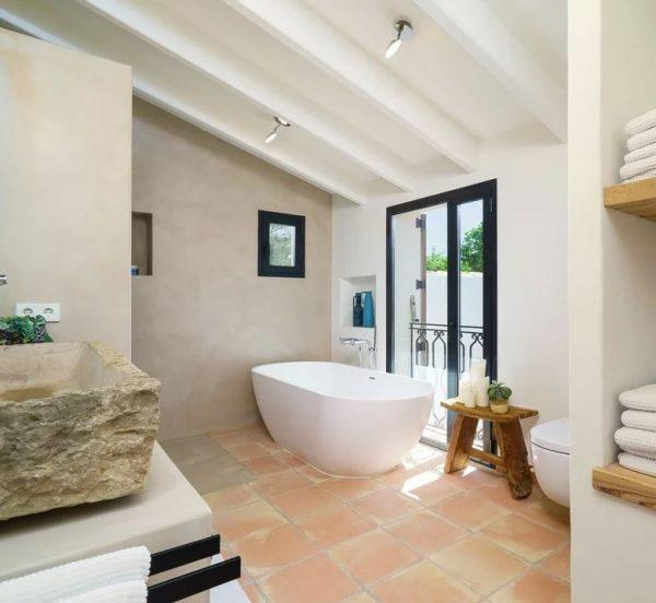 muebles rusticos para baño