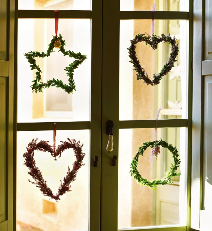 objetos de navidad para ventanas