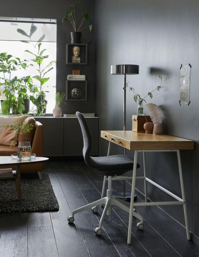 oficinas oscura modernas en casa
